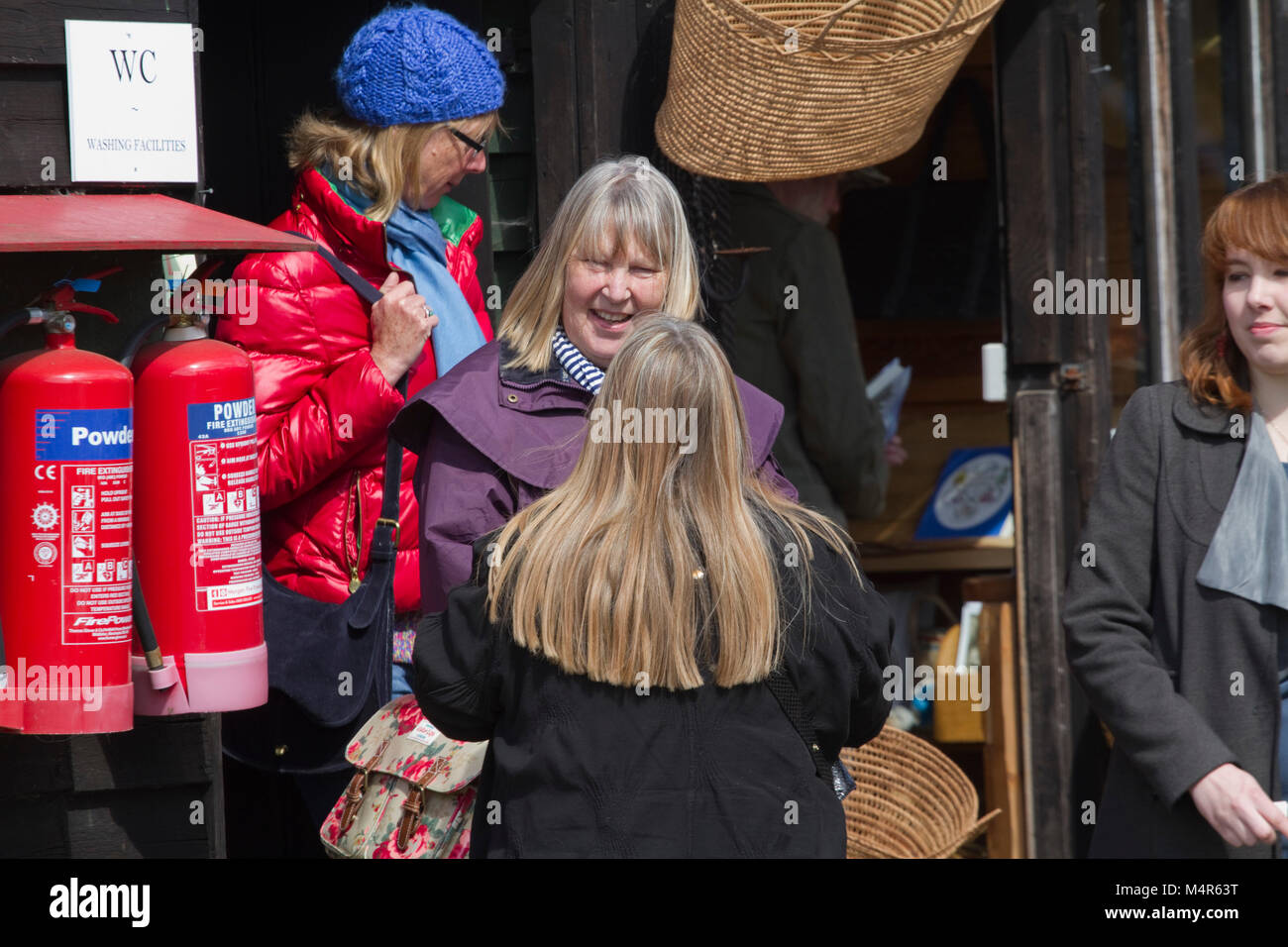 Women at a craft fair - Stock Image
