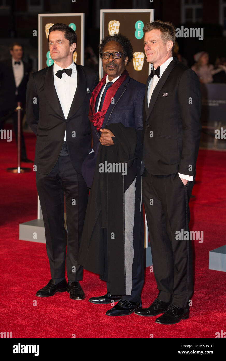 932d6e7c949e Clarke Peters (C) attends the EE British Academy Film Awards (BAFTA) held  at Royal Albert Hall on February 18