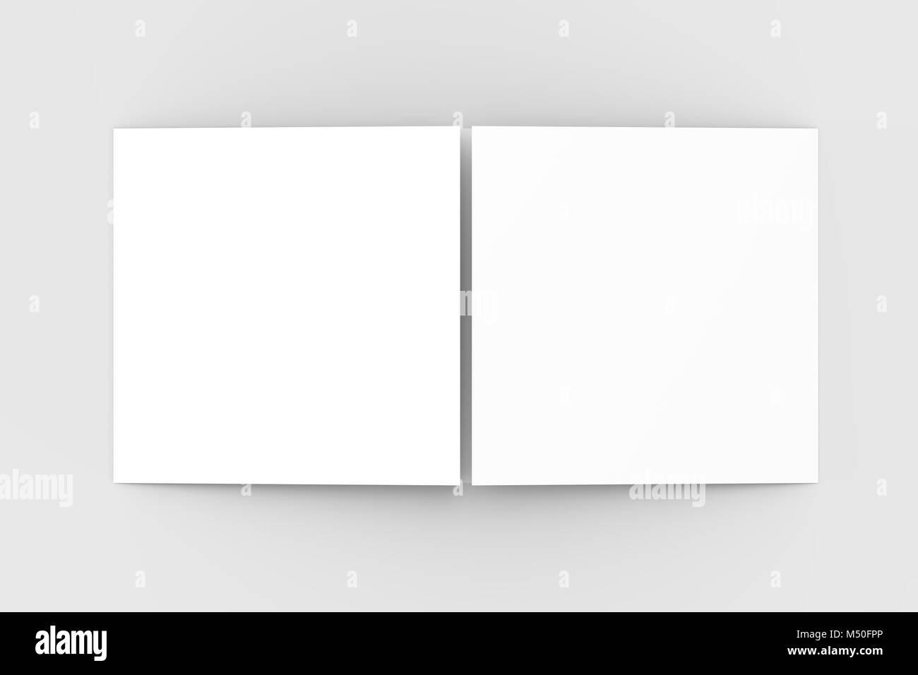 Horizontal - landscape gate fold brochure mock up isolated