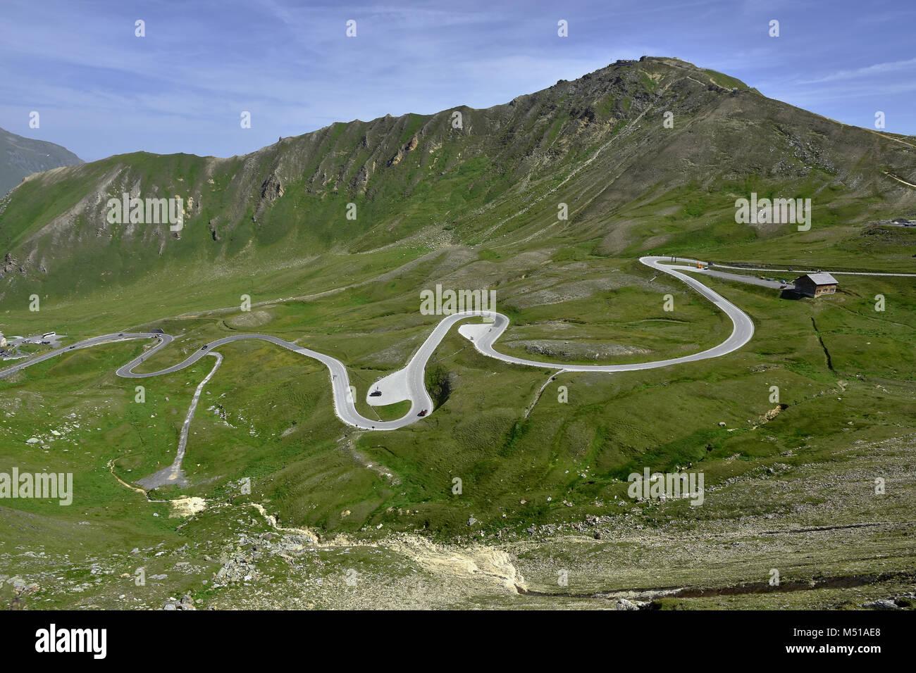Grossglockner High Alpine Road; alps; Austria; Europe; Stock Photo
