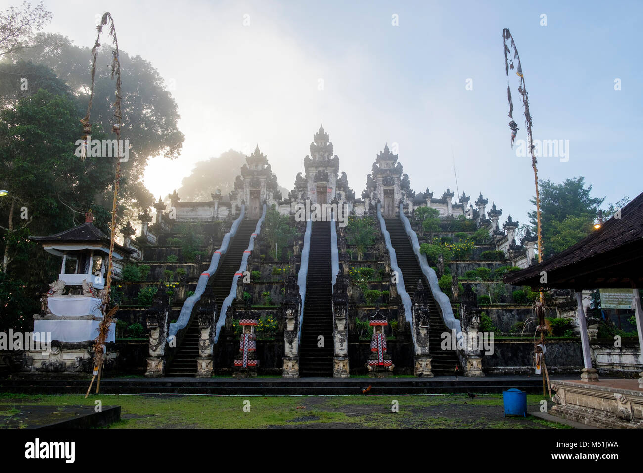 The three 'paduraksa' portals at the entrance of the middle sanctum, Pura Lempuyang temple, Bali, Indonesia. - Stock Image