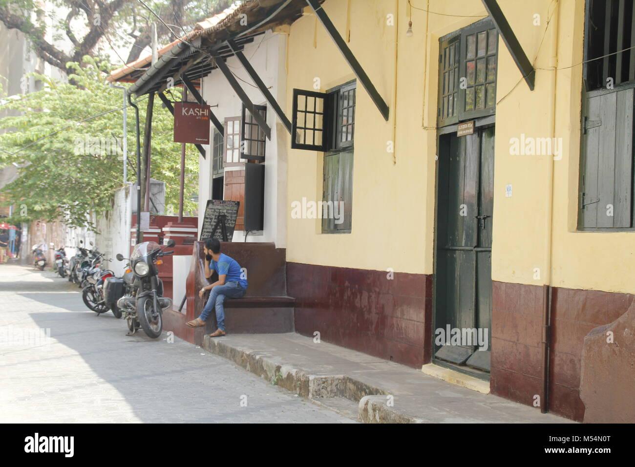 The streets of Fort Kochi, Kerala, India - Stock Image