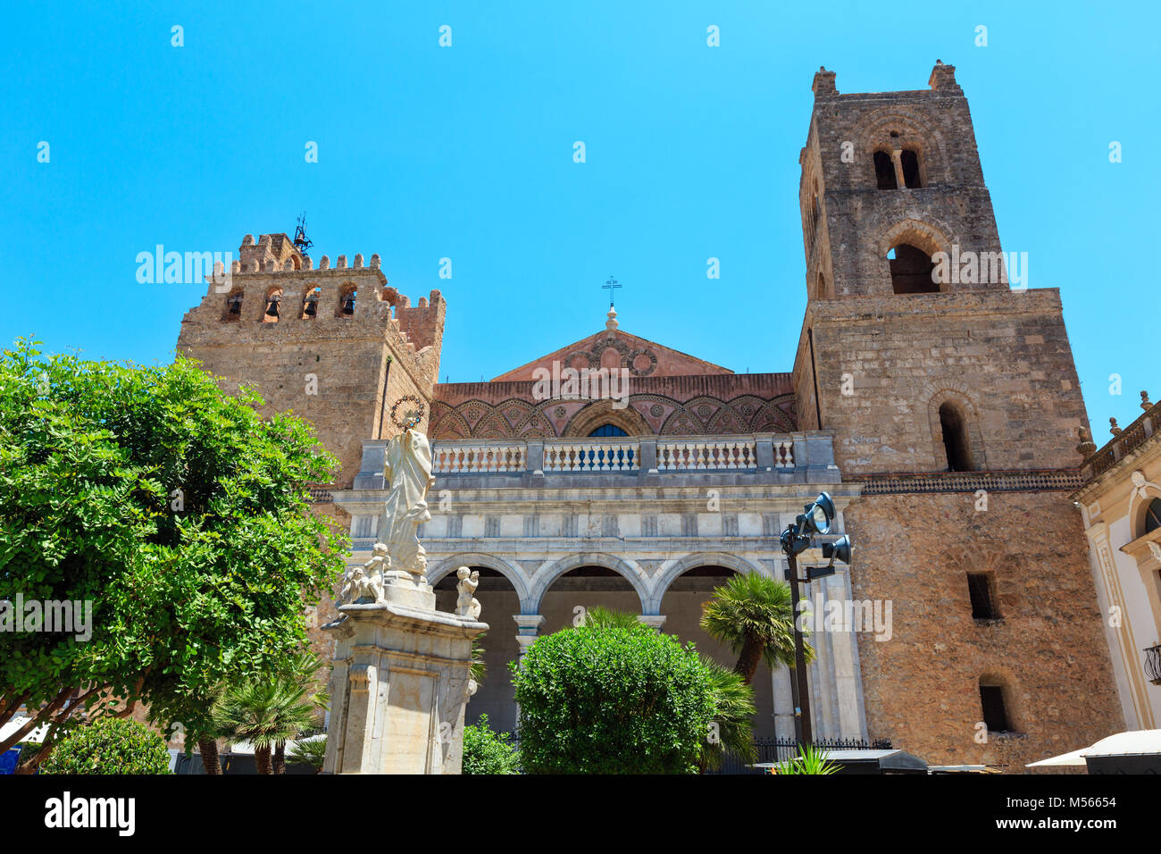 Monreale Cathedral, Palermo, Sicily, Italy - Stock Image