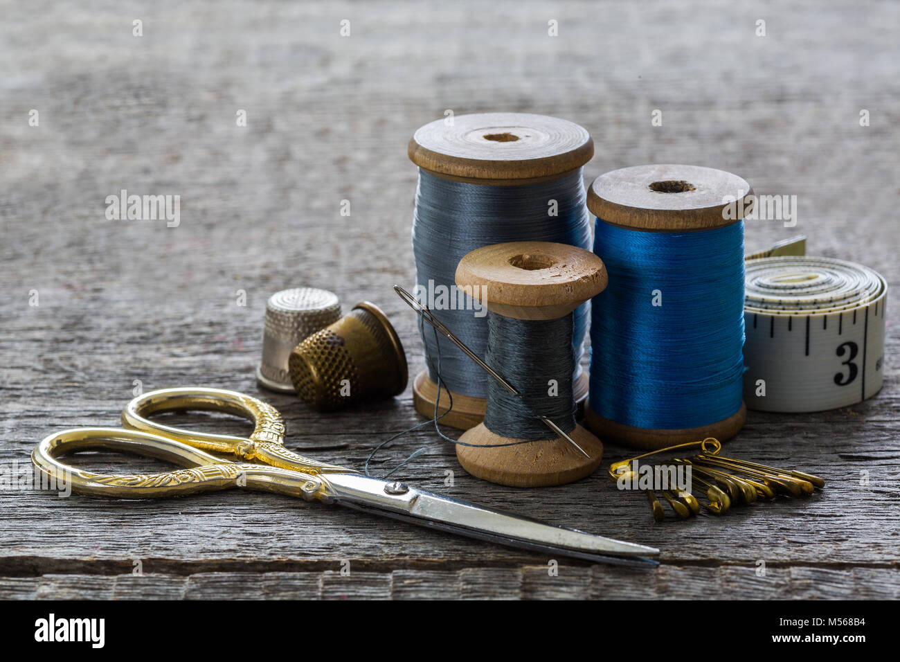 Sewing threads, coils - Stock Image