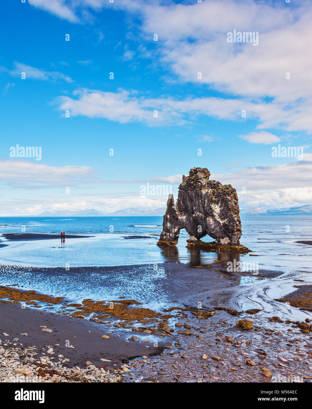 The picturesque cliff in the Bay of Huna im Iceland - Stock Image