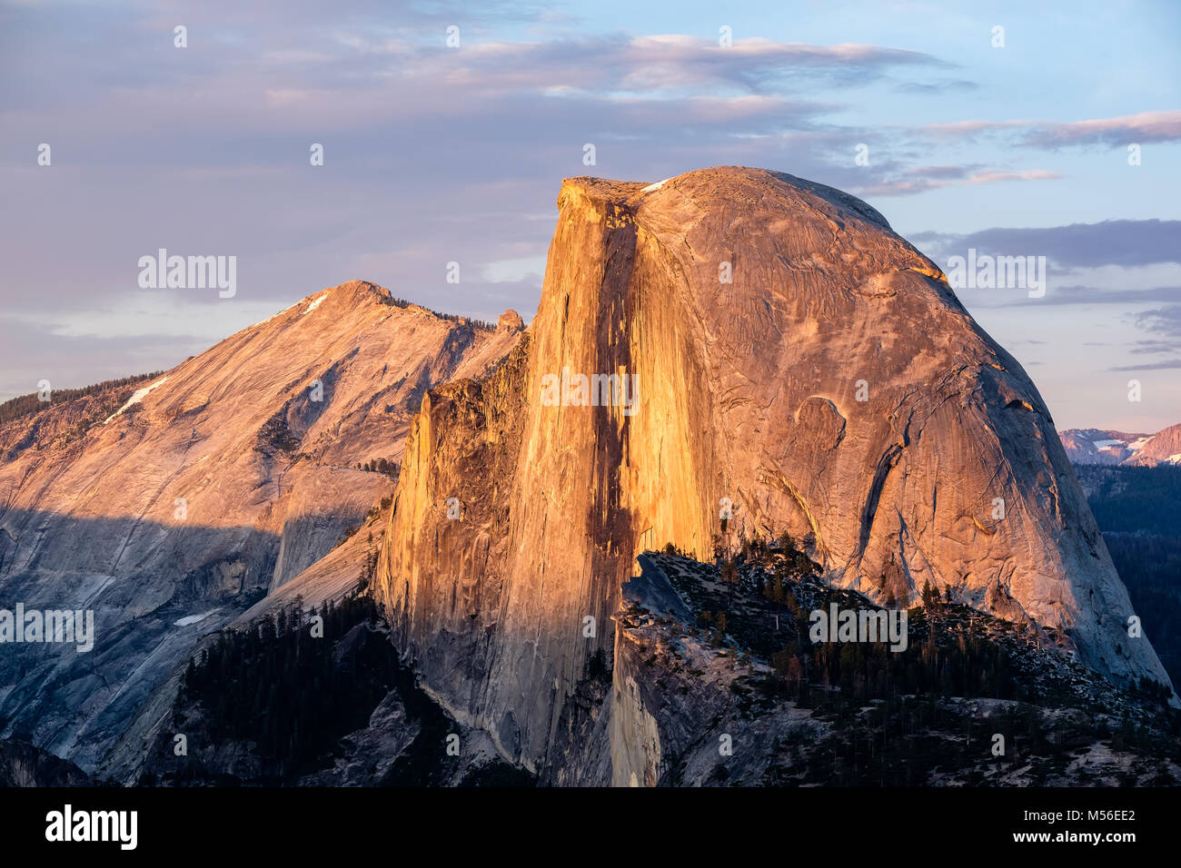 Half Dome rock formation in Yosemite National Park - Stock Image