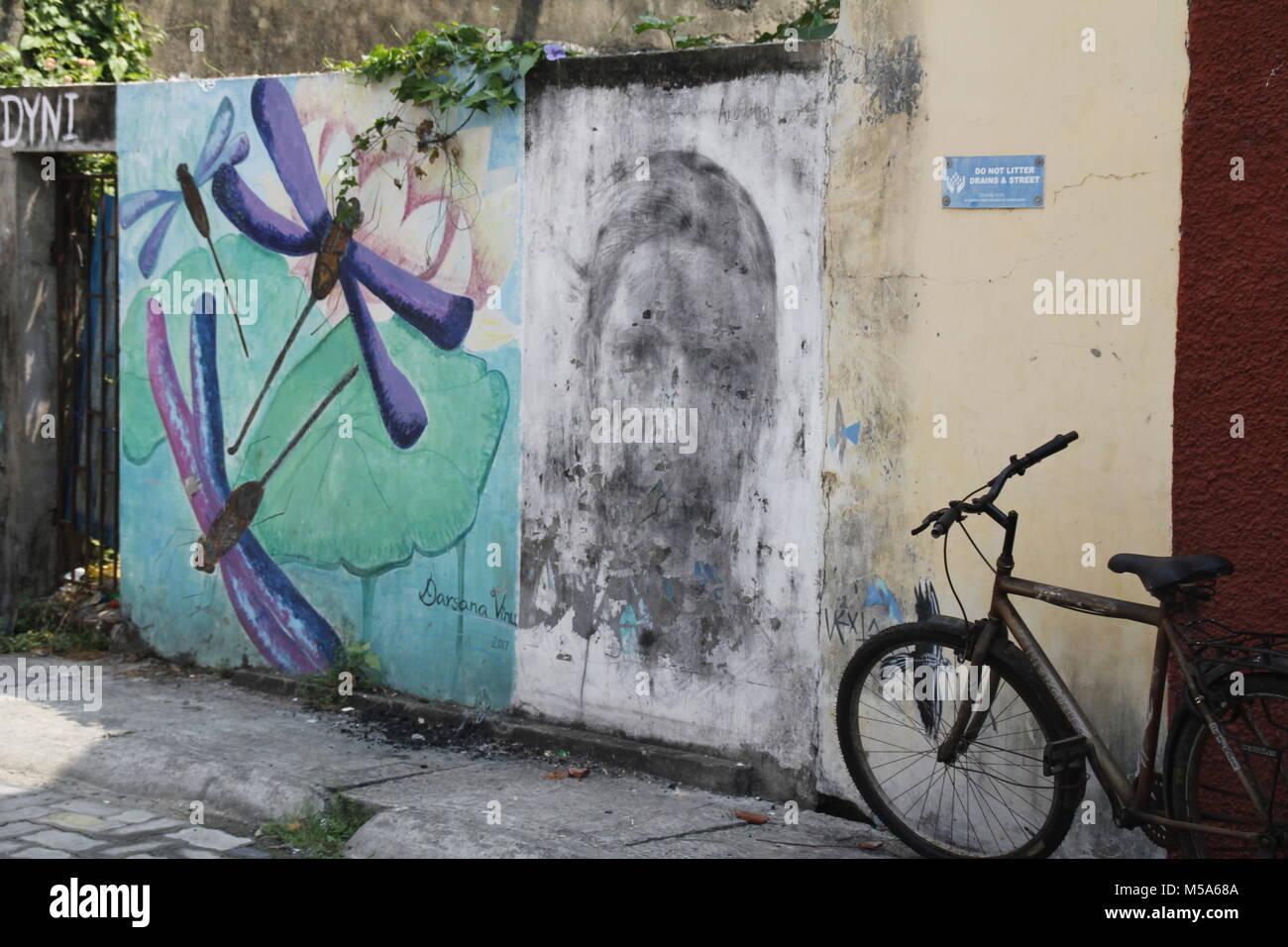Street art fort Kochi - Stock Image