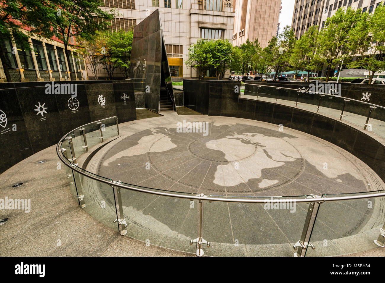 African Burial Ground National Monument Foley Square Manhattan   New York, New York, USA Stock Photo