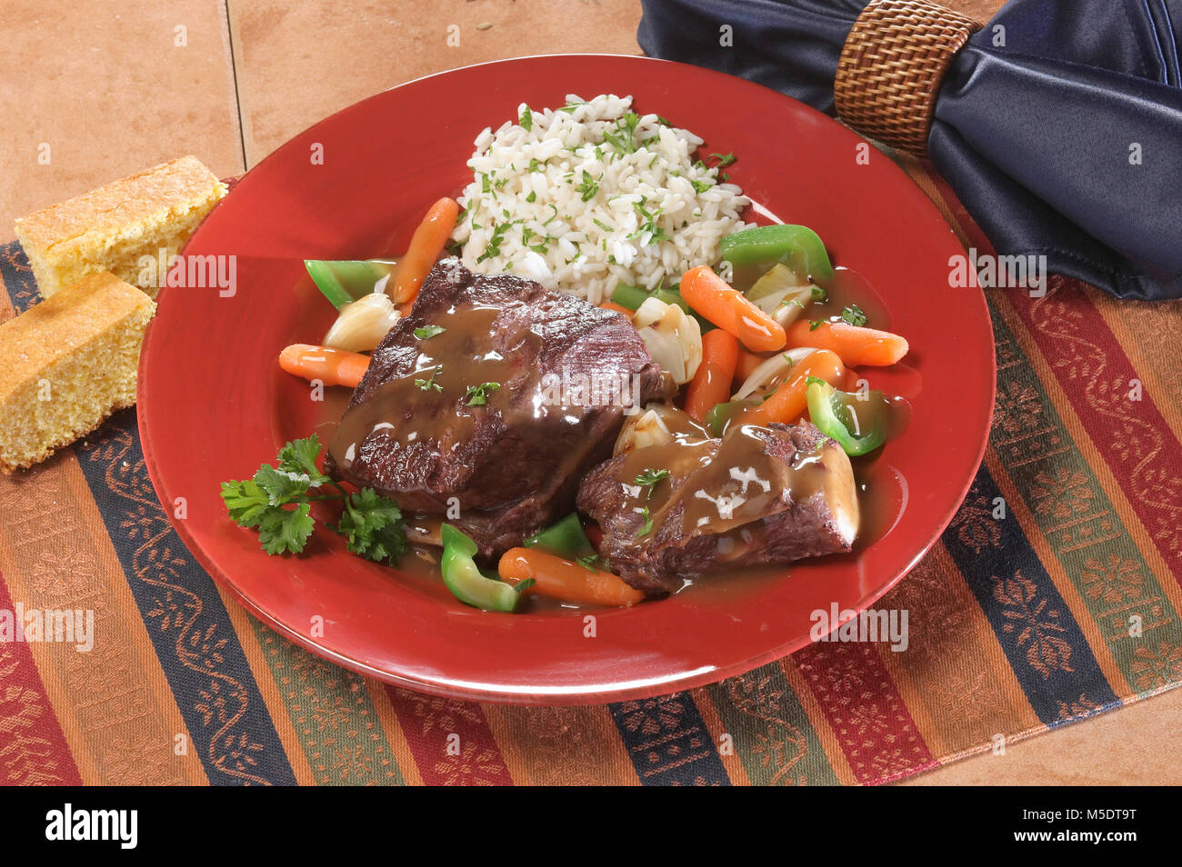 Beef Short Ribs - Stock Image
