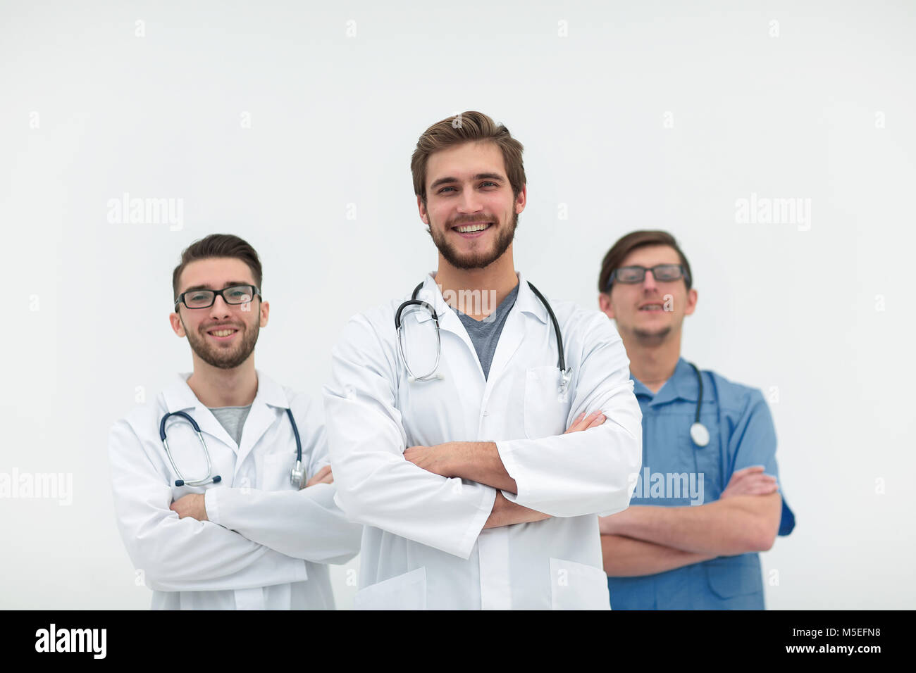 group of successful medical workers - Stock Image