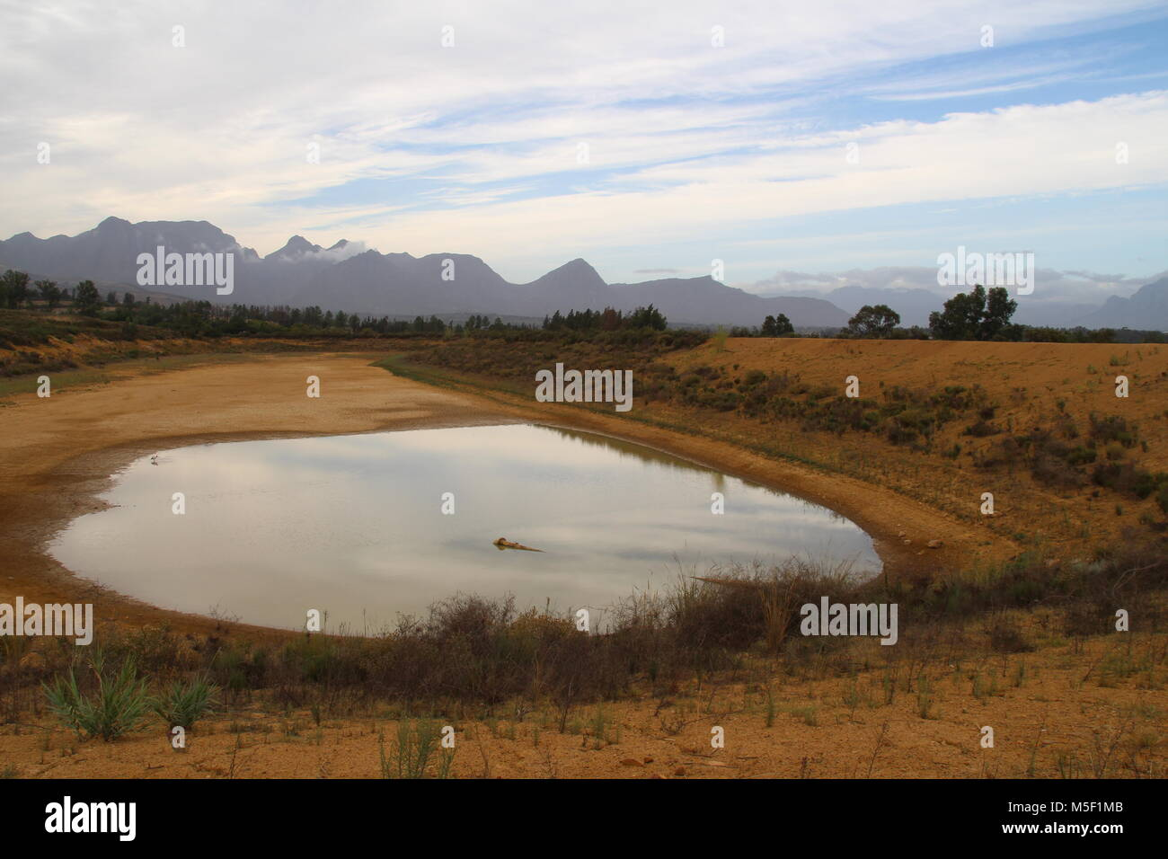 Wellington, South Africa. 02nd Feb, 2018. 02.02.2018, South Africa, Wellington: A private water reservoir at the Stock Photo