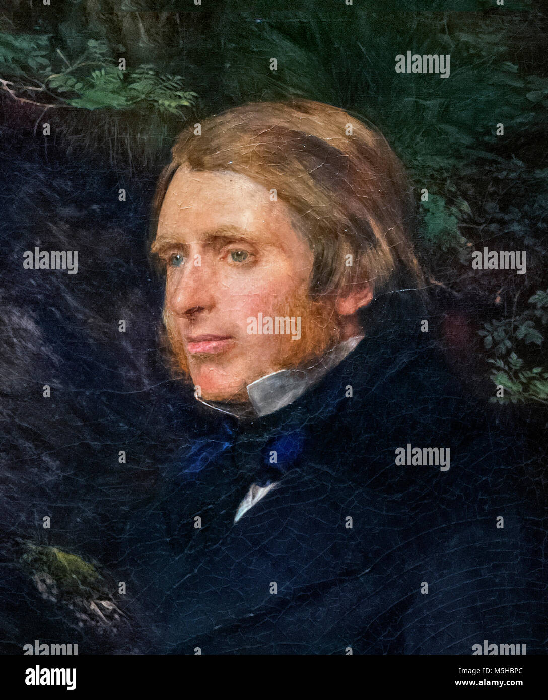Portrait of the renowned Victorian art critic John Ruskin (1819-1900) by John Everett Millais (1829-1896), oil on Stock Photo