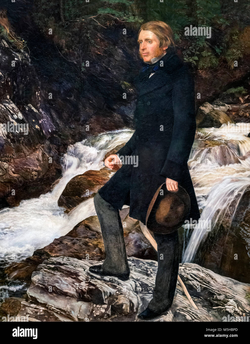 Portrait of the renowned Victorian art critic John Ruskin (1819-1900) by John Everett Millais (1829-1896), oil on - Stock Image