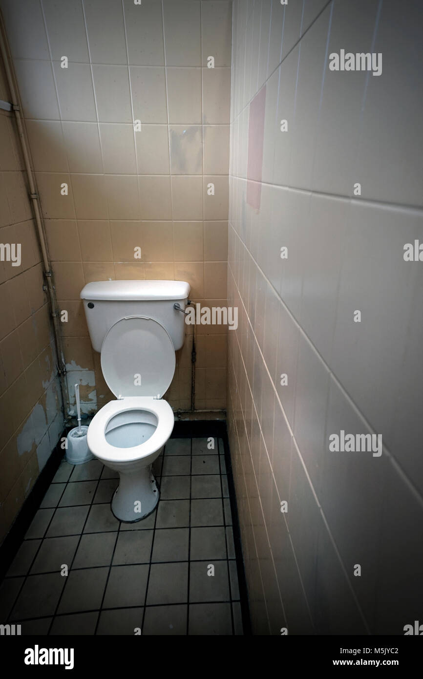 publiic toilet cublicle - Stock Image