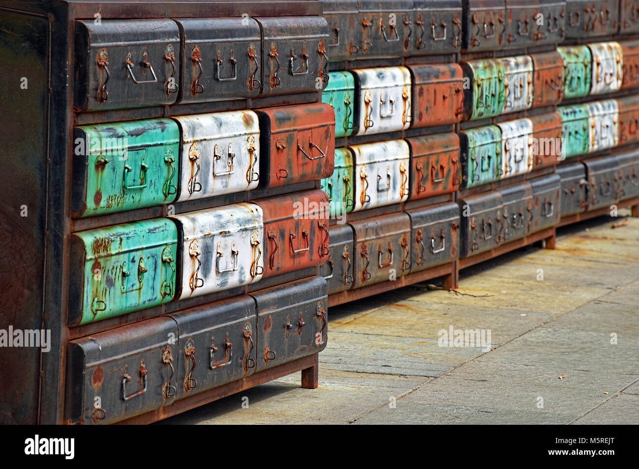 Suitcases - Packed and Ready for the Journey - Stock Image