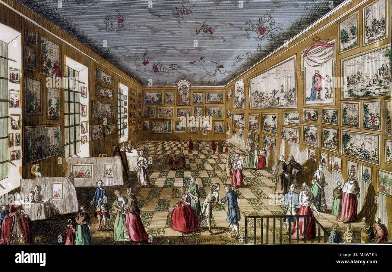 ECOLE DES BEAUX-ARTS, Paris, about 1750 - Stock Image