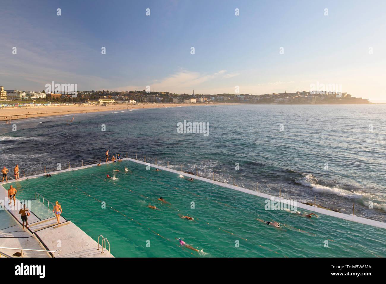 Bondi Icebergs swimming pool, Bondi Beach, Sydney, New South Wales, Australia Stock Photo