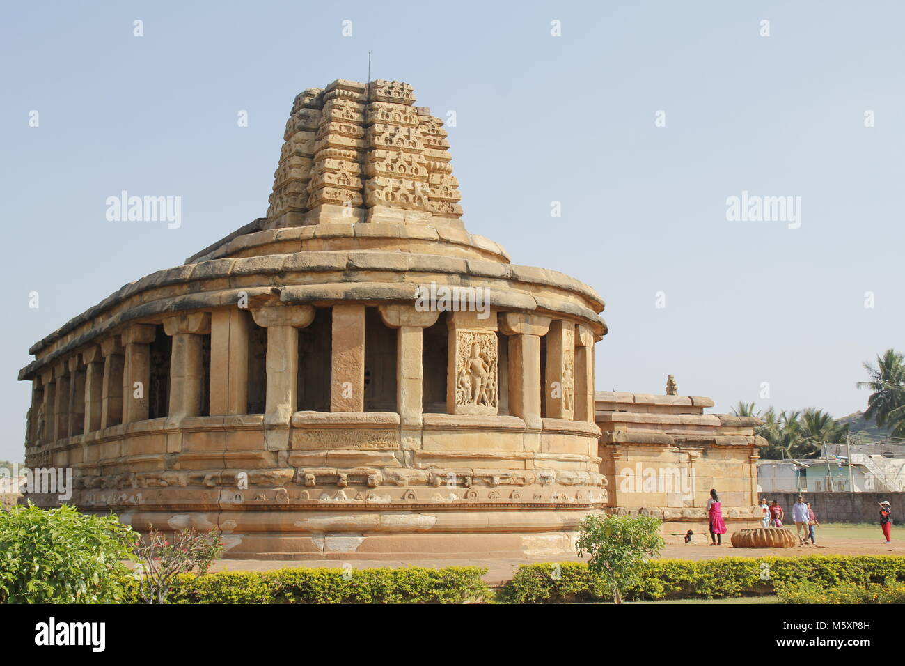 The Durga temple at Aihole, Karnataka - Stock Image