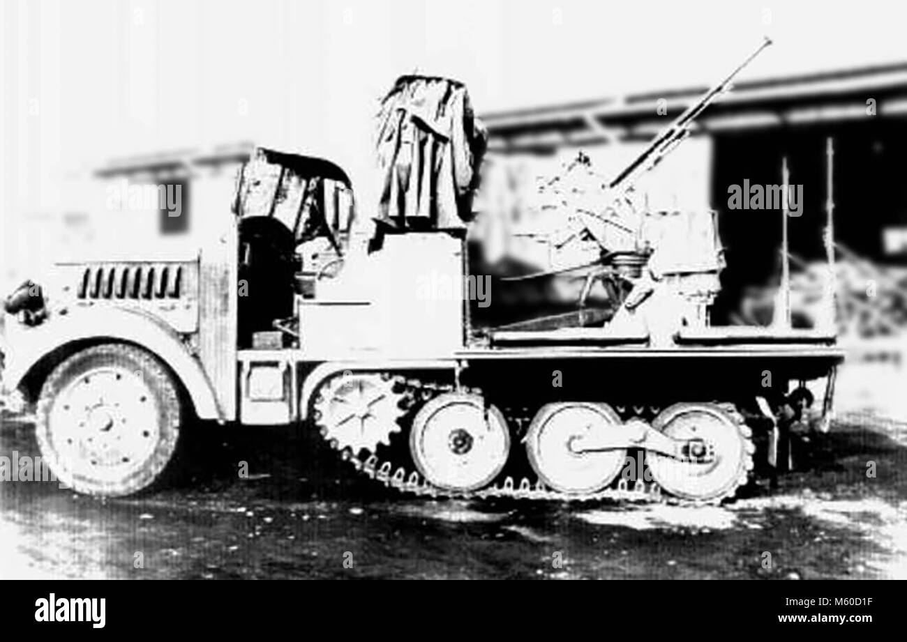 A Type 98 Ko-Hi AA (Anti Air) Halftrack of the Imperial Japanese Army - Stock Image