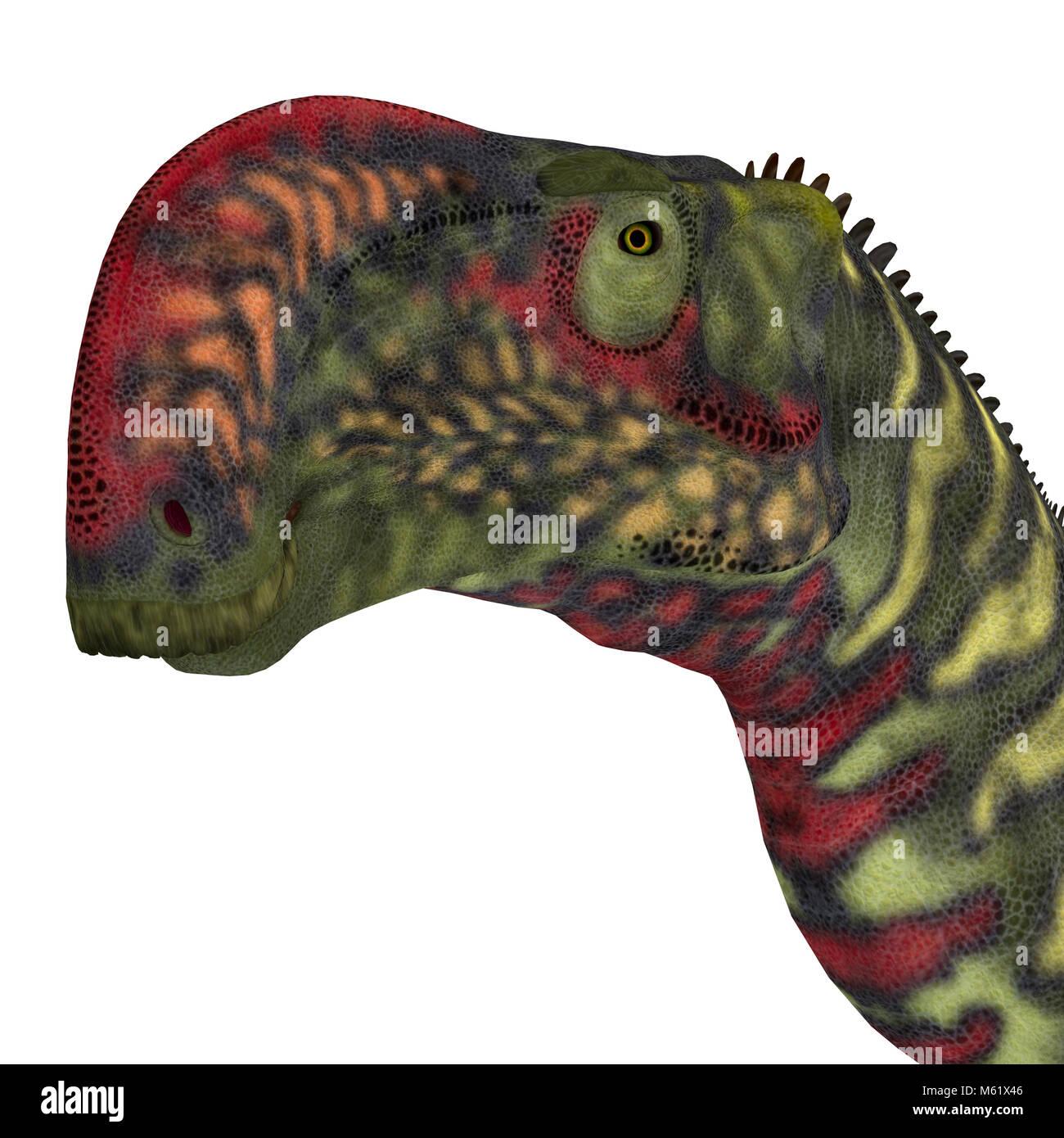 Altirhinus was an iguanodont herbivore dinosaur from the Cretaceous Period of Mongolia. - Stock Image