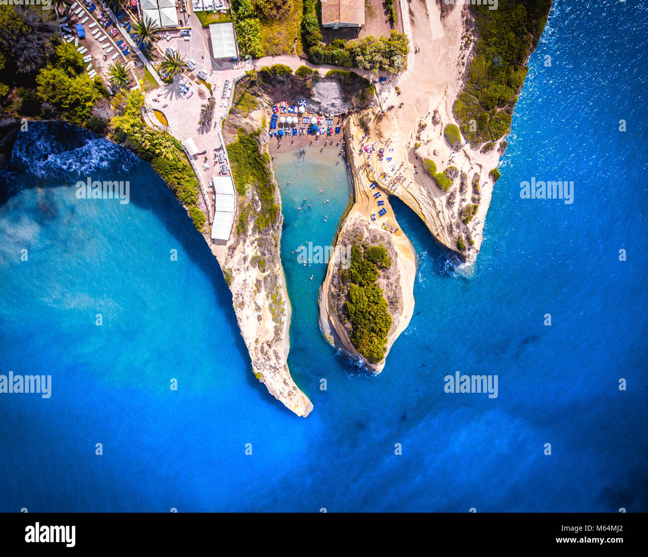 Canal D'amour, Corfu Kerkyra, Greece. The most well known beach on the island, with it's turqoise waters and breathtaking Stock Photo