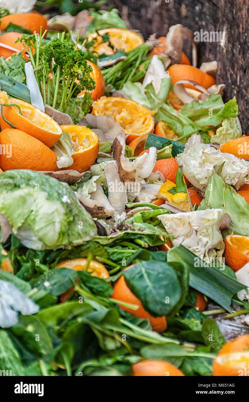 organic waste on a big heap - Stock Image