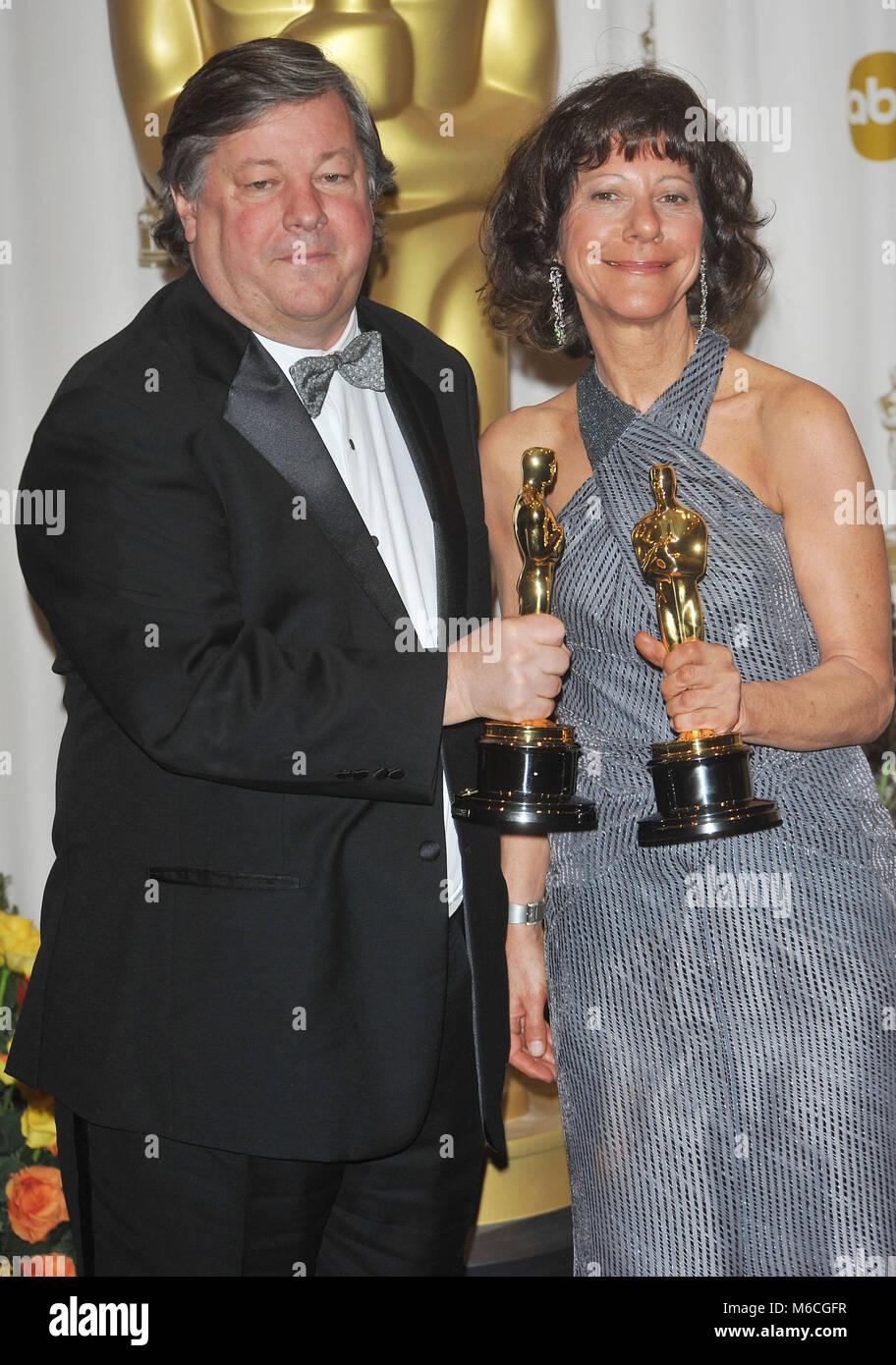 Kirk Simon  and Karen Goodman - Oscars  at the 83th Academy Awards at the Kodak Theatre In Los Angeles.Kirk Simon - Stock Image