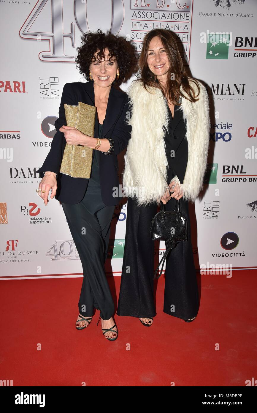 Rome, Italy. 02nd Mar, 2018. Rome, Palazzo delle Esposizioni Party for the 40th anniversary of the Italian Association - Stock Image