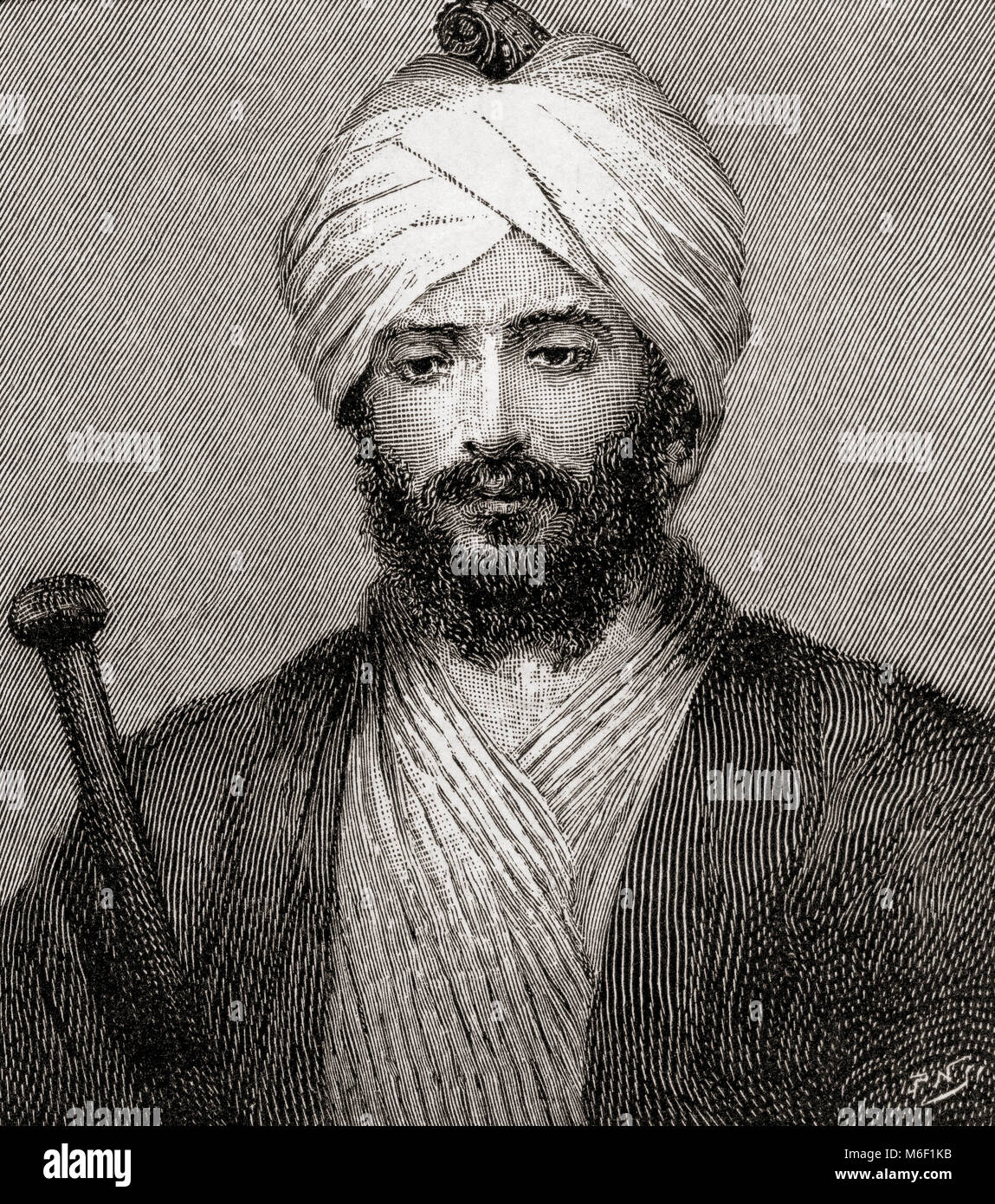 Gottlieb Wilhelm Leitner or Gottlieb William Leitner, 1840 – 1899. British orientalist.  From The Strand Magazine, - Stock Image