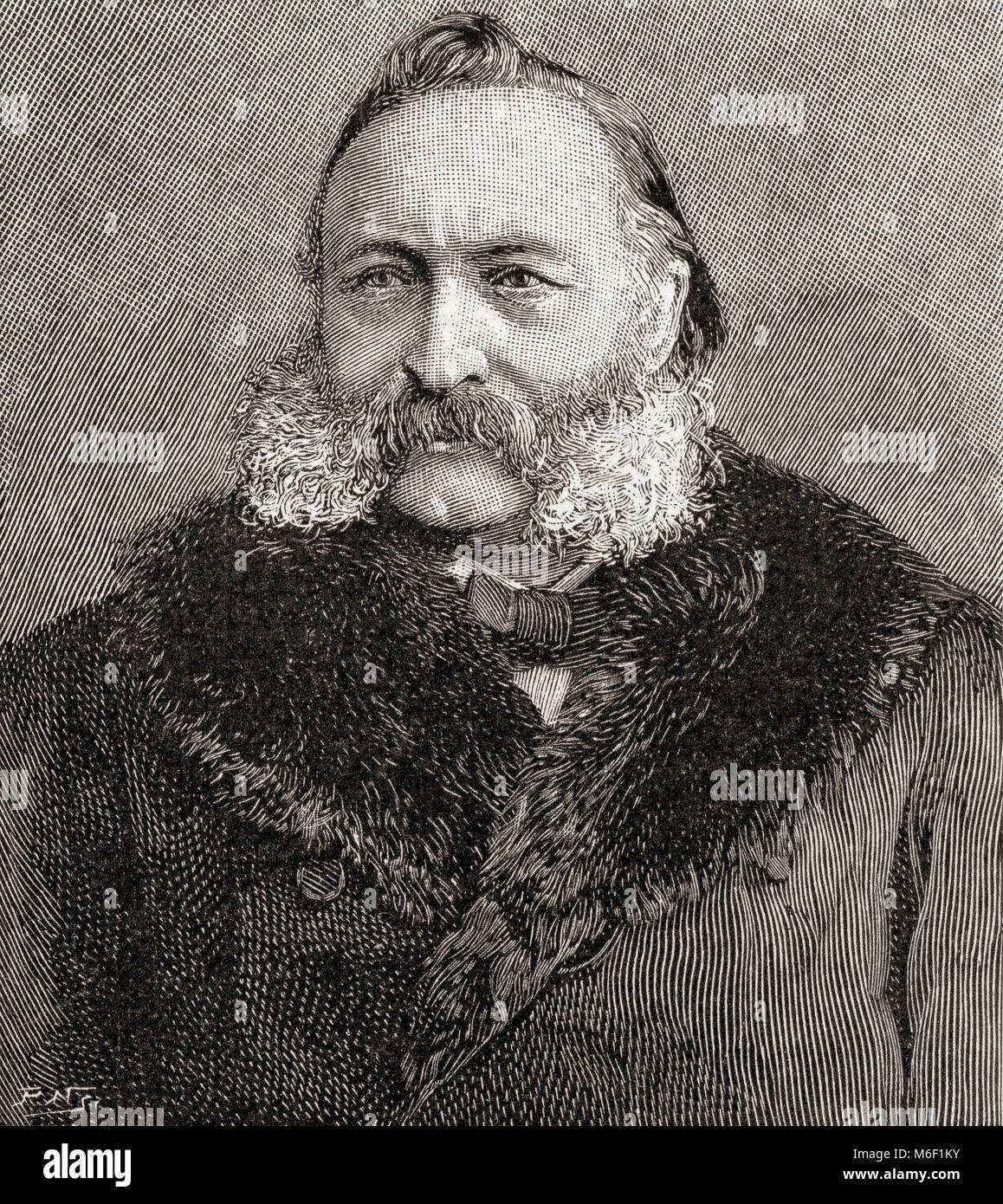 Gottlieb Wilhelm Leitner or Gottlieb William Leitner, 1840 – 1899. British orientalist.  From The Strand Magazine, - Stock Image