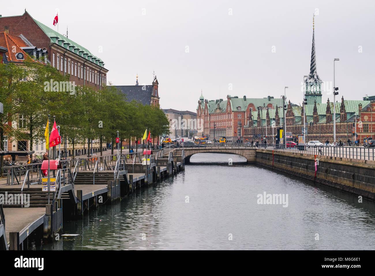 Copenhagen - October 17, 2016: View to the Borsen (Børsen) building on October 17, 2016. - Stock Image