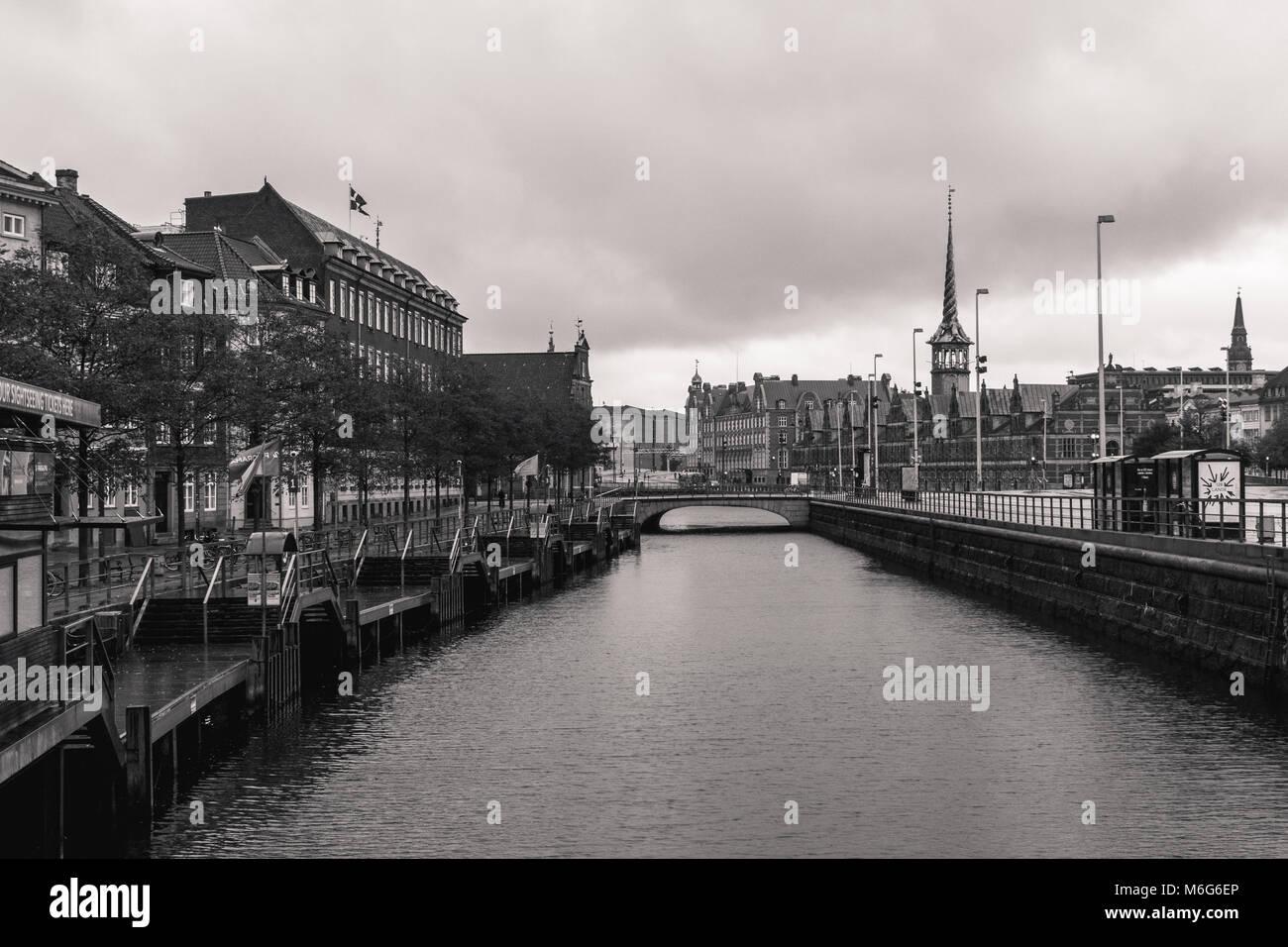 Copenhagen - October 22, 2016: View to the Borsen (Borsen) building - Stock Image