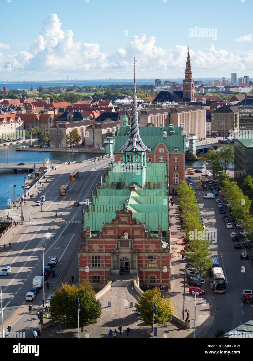 Borsen building in Christiansborg Slot, Copenhagen - Stock Image