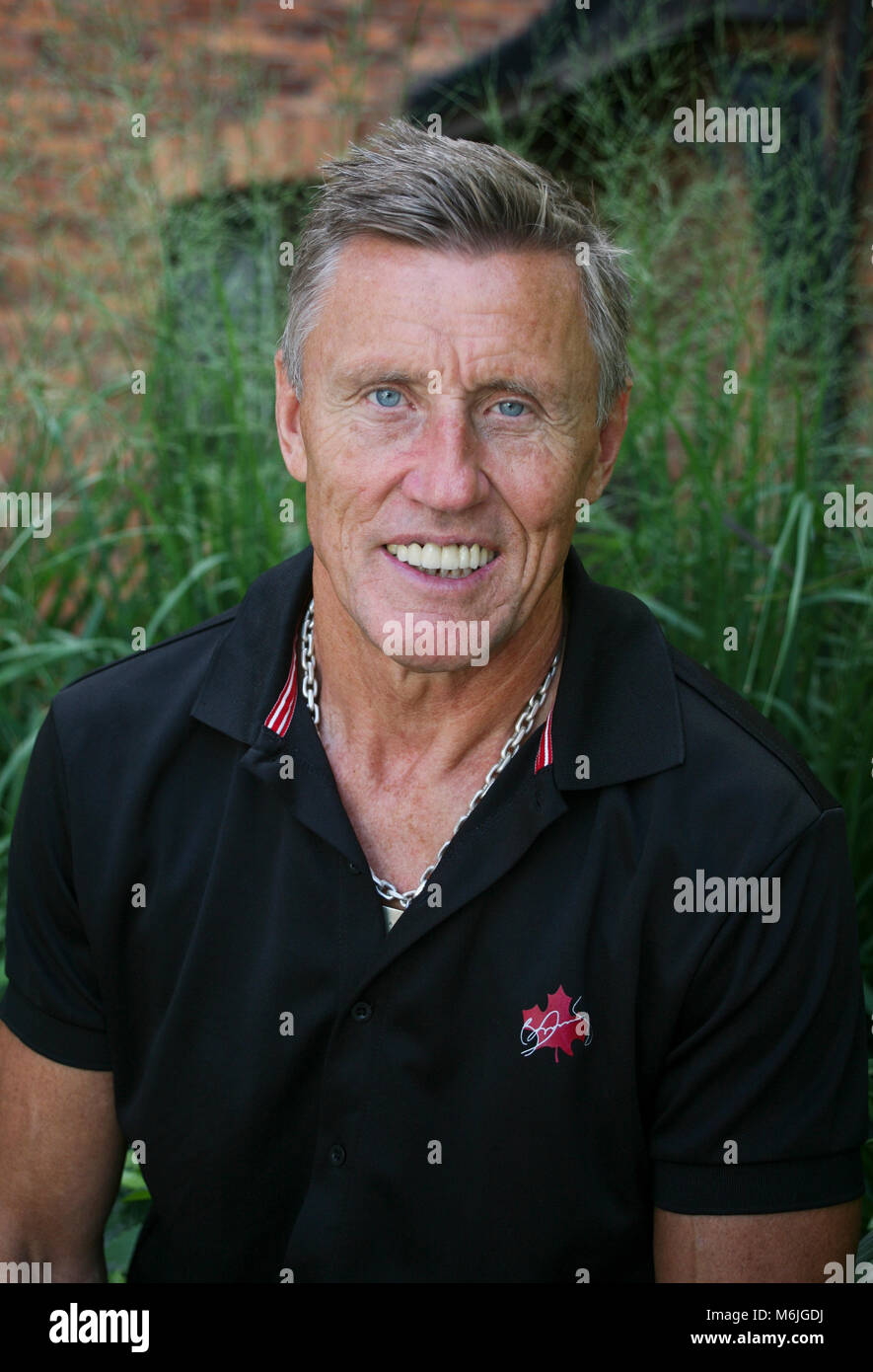 BÖRJE SALMING Swedish former Ice Hockey pro in Toronto Maple leafs Canada 2012 Selected to Centennial All_Star - Stock Image