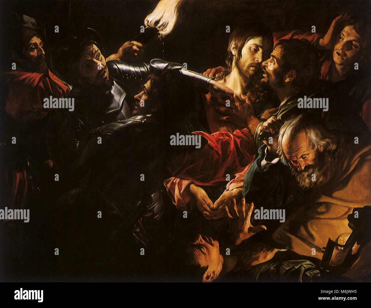 The Taking of Christ, Boulogne, Valentin de, 1630. - Stock Image