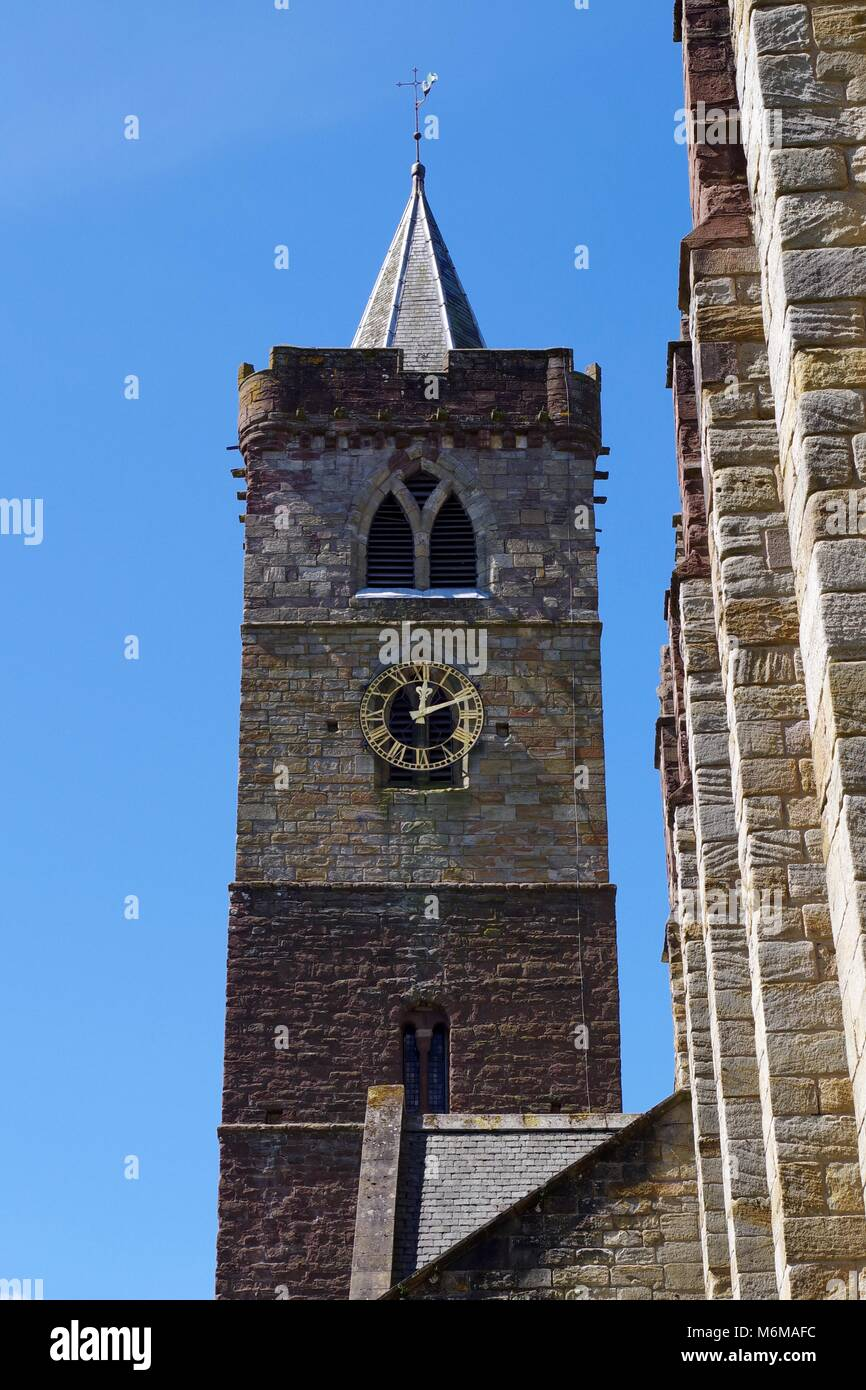 Dunblane Cathedral, Gothic 11th Century Sandstone Cathedral. Central Scotland, UK. - Stock Image