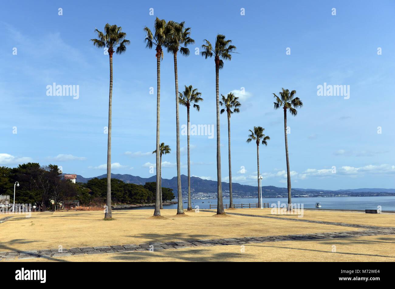 Shoningahama Park in Beppu, Japan. - Stock Image