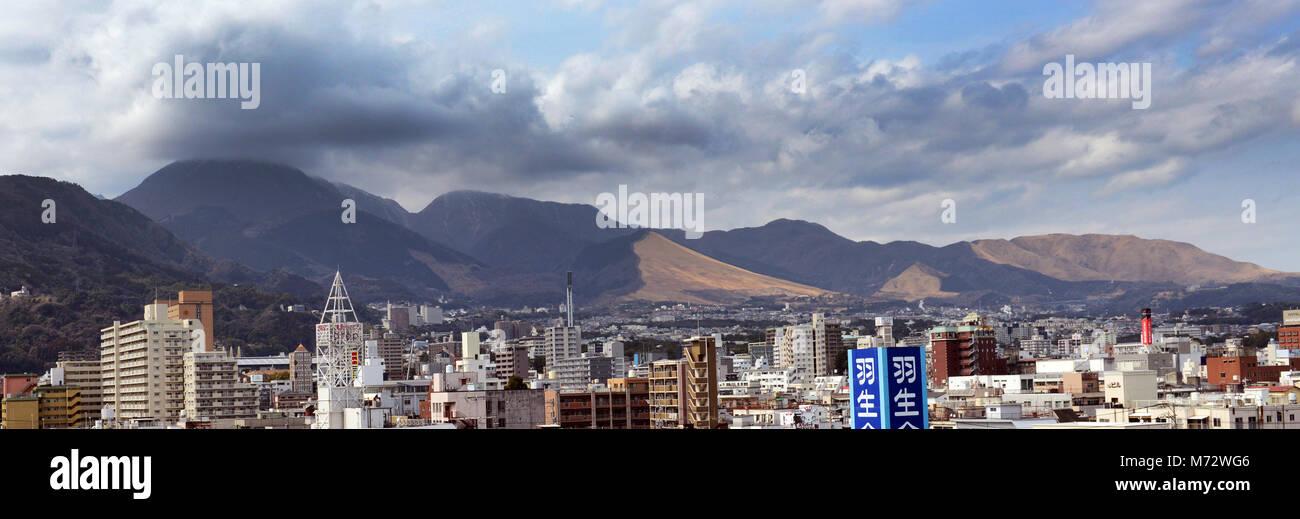 The city of Beppu, Oita prefecture, Japan. - Stock Image