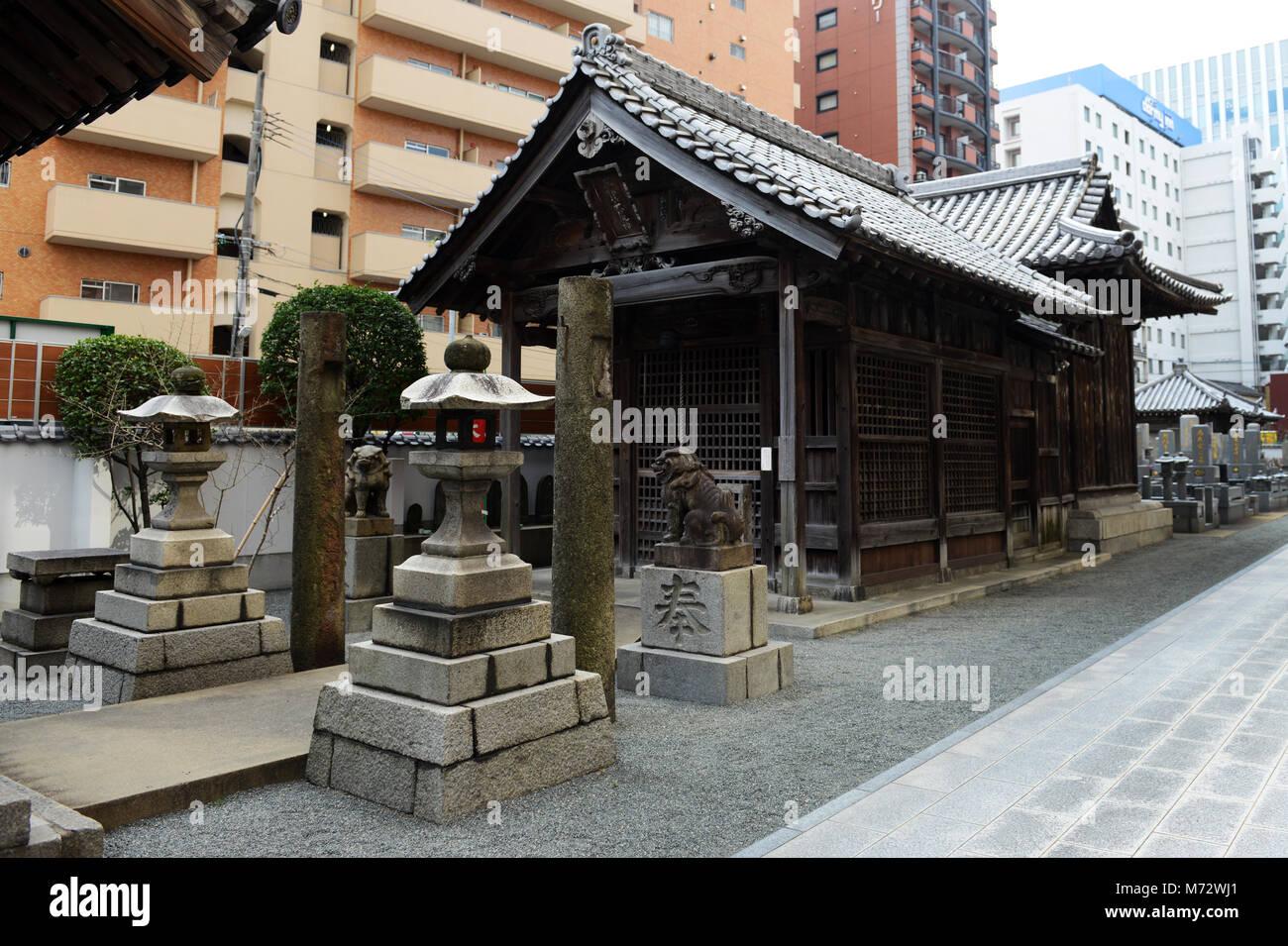 Ryuguji Buddhist temple in Fukuoka, Japan. - Stock Image