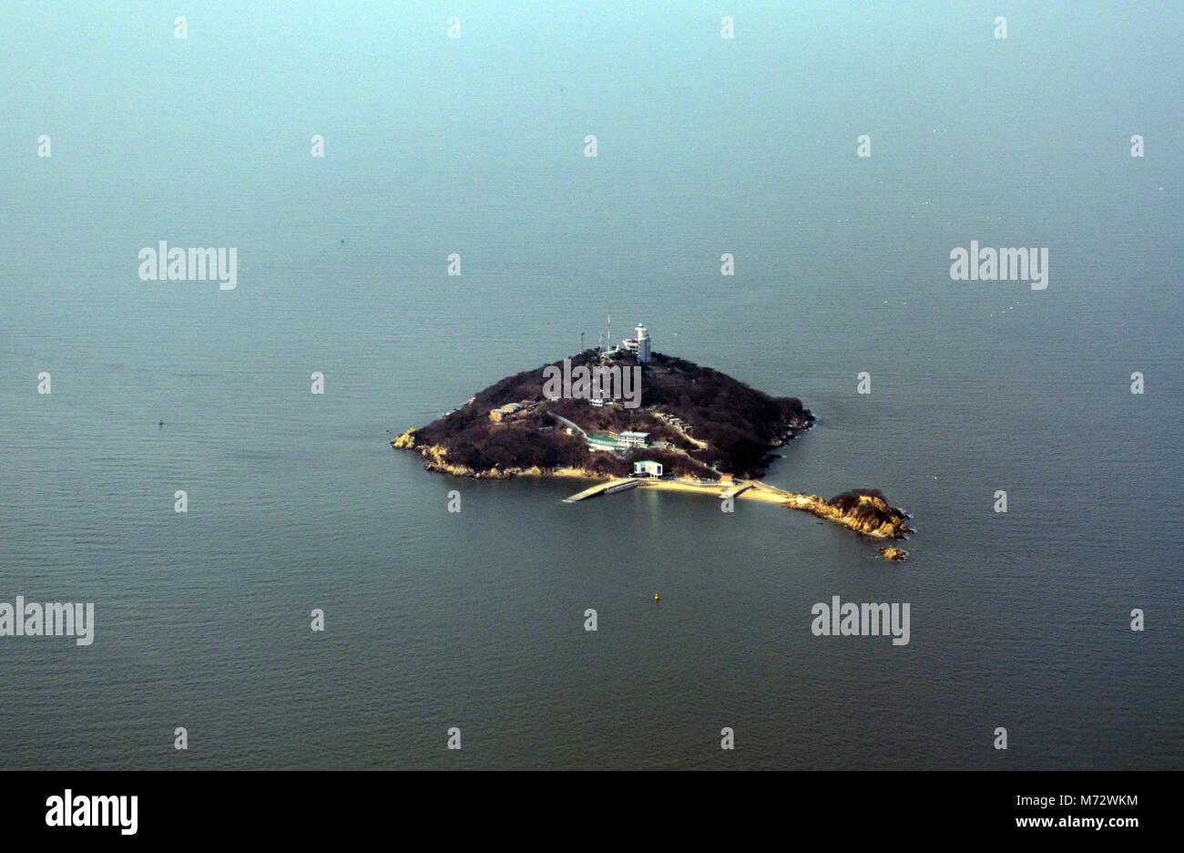 Palmido Island near Incheon, Korea. - Stock Image