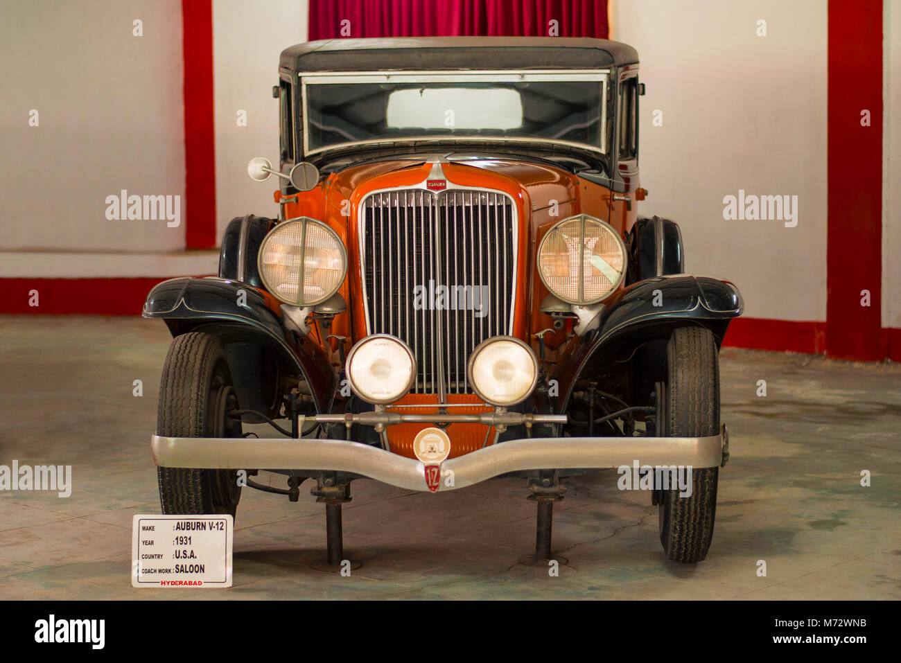 Auburn brown colored vintage car in Auto World Vintage Car Museum of ...