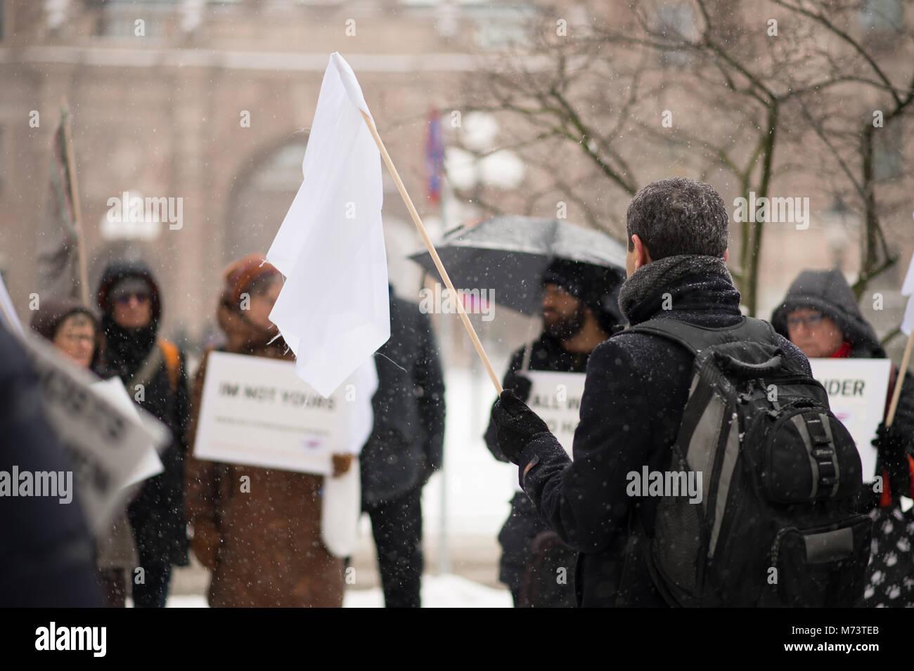 Stockholm, Sweden, March 8, 2018. International Women's Day. The National Association GAPF: manifestation for - Stock Image