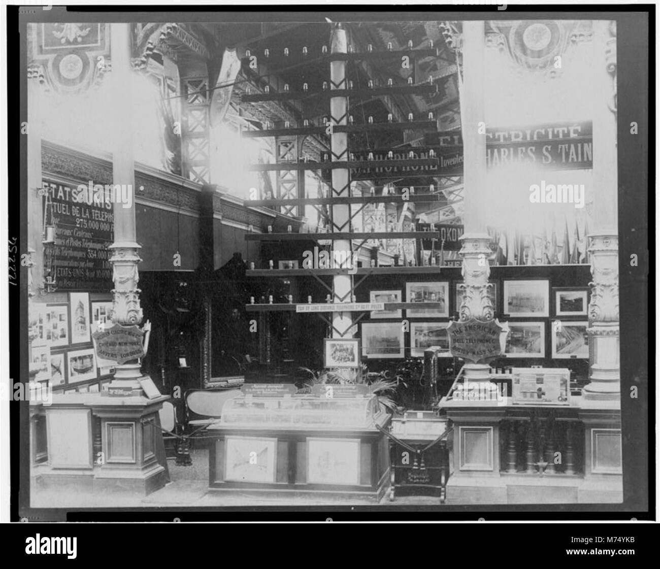 American Bell Telephone Co. and Western Electric Co., Exposition Universelle, Paris, 1889 LCCN00649968 - Stock Image