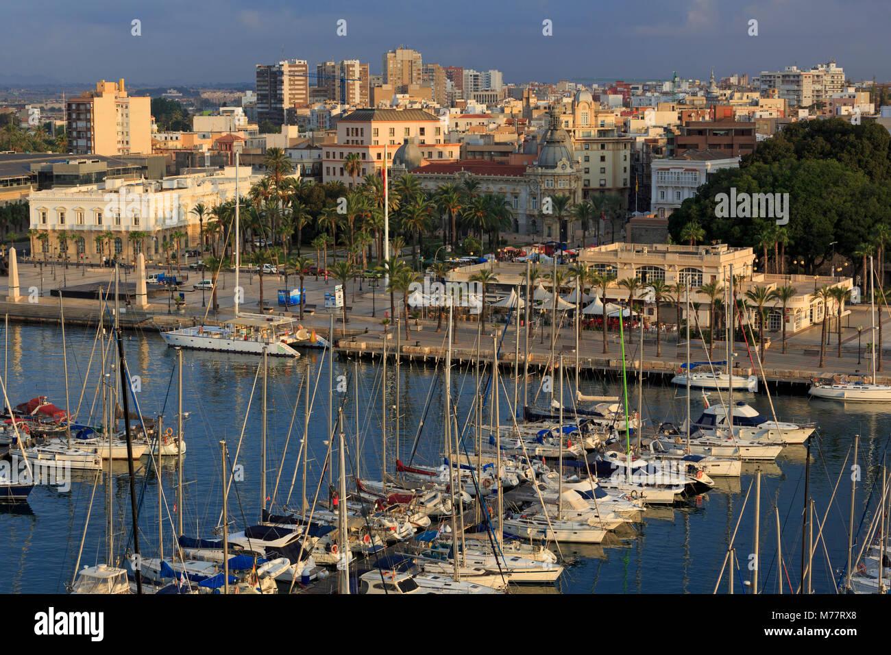 Marina, Cartagena Port, Murcia, Spain, Europe - Stock Image