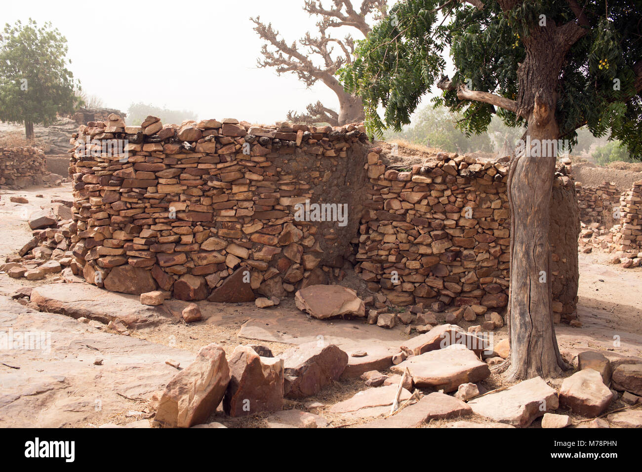 A menstrual house in a Dogon village in Mali West Africa. Menstruating girls and women are banished to this house - Stock Image