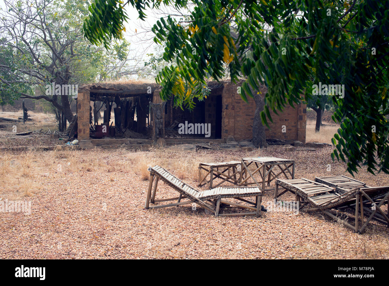 Dogon villages have accommodation in compounds for tourists and other guests. Due to the current situation in Mali, - Stock Image