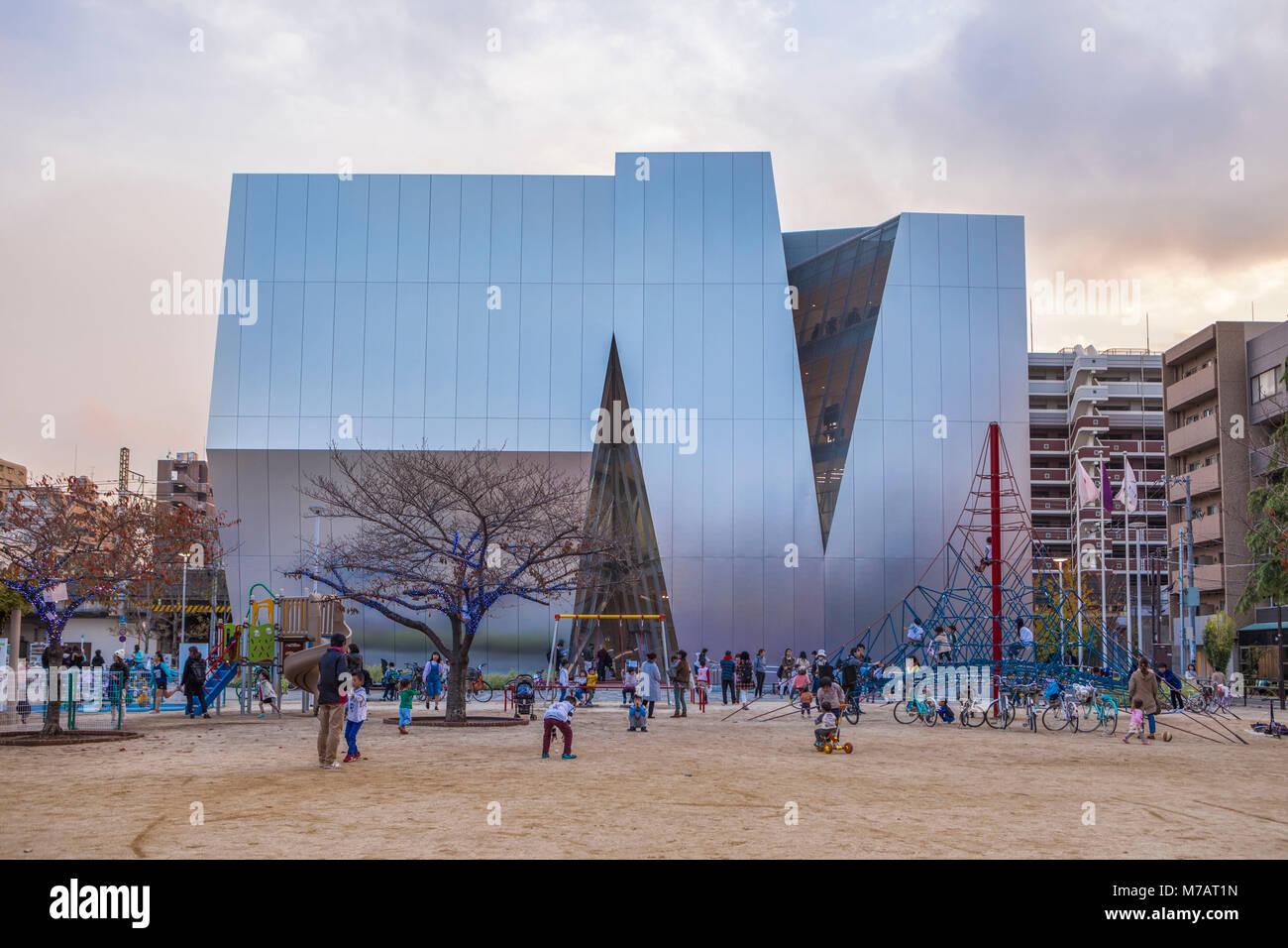 Japan, Tokyo City, Sumida Hokusai Museum, - Stock Image