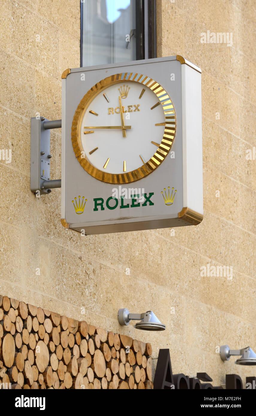 Rolex Watch Shop Aix-en-Provence France - Stock Image