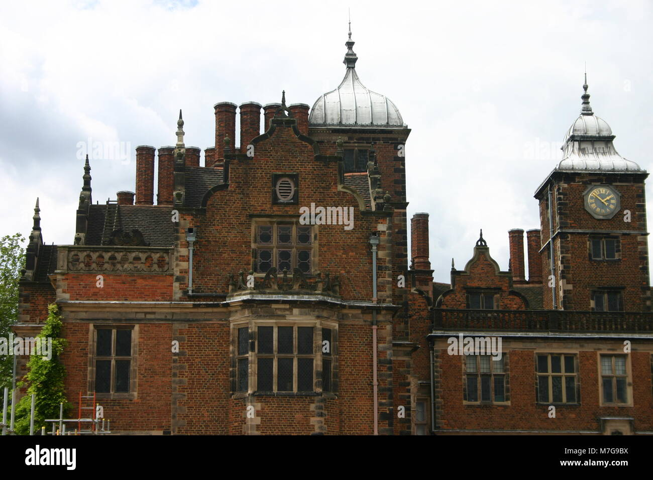 The front of Aston Hall, Birmingham, Jacobean manor house, built 1618 - Stock Image