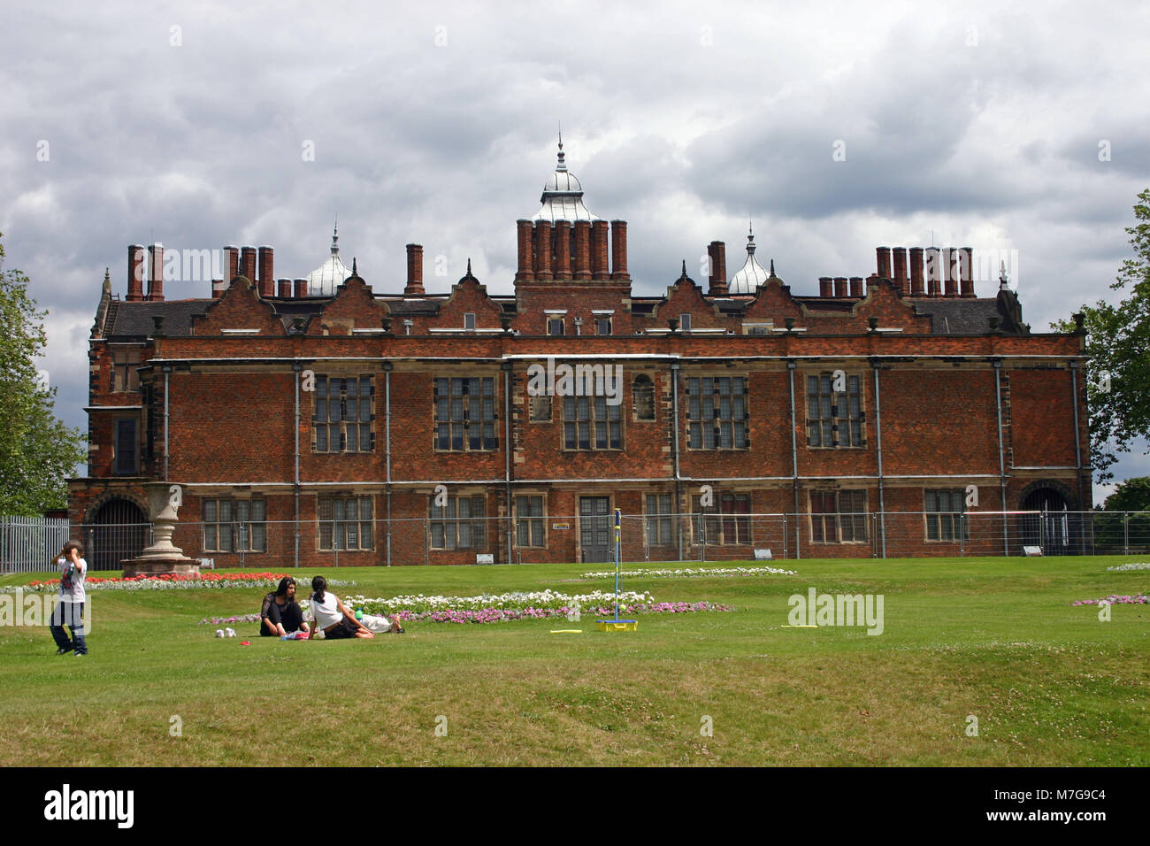 Rear elevation of Aston Hall, Jacobean mansion, Birmingham - Stock Image